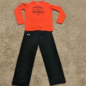 Youth Large Under Armour Outfit Red/Black